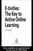 E-tivities: the key to active online learning